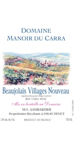 Manoir du Carra Beaujolais-Villages Nouveau 2016