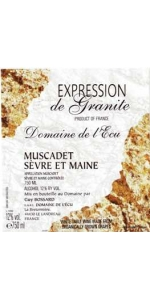 Guy Bossard Domaine de l'Ecu Muscadet Granite 2018