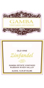 Gamba Estate Old Vines Zinfandel 2017