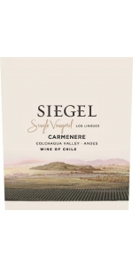 Siegel Single Vineyard Los Lingues Carmenere 2016