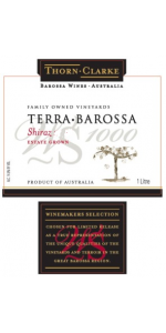 Thorn Clarke Terra Barossa Shiraz Winemaker's Selection 2016 (liter)