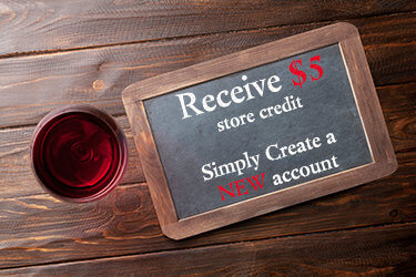 Receive $5 store credit Simply Create a NEW account